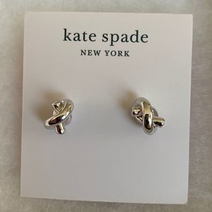 KATE SPADE Sailor's Knot Silver Plated Earrings